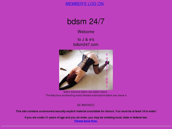 BDSM 247 Pass Login