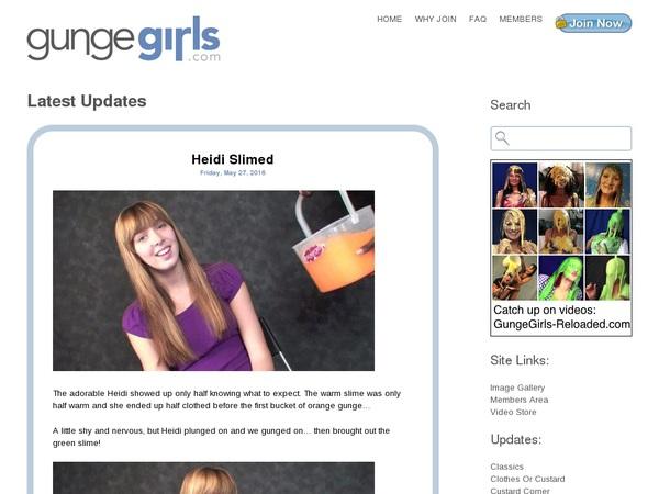 Gunge Girls Accounts And Password