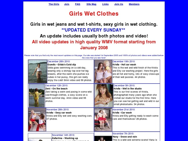 Sign Up Girlswetclothes