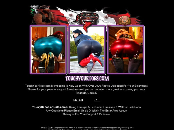 Touchyourtoes.com Member Discount