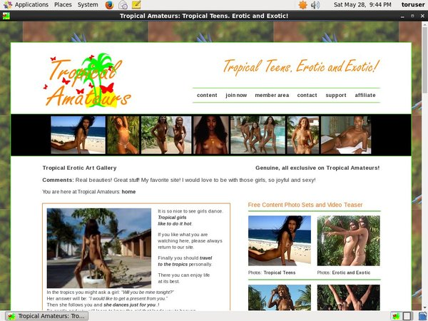 Tropicalamateurs Free Premium