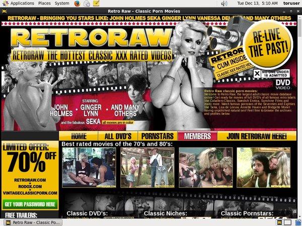 Retroraw.com Login Free