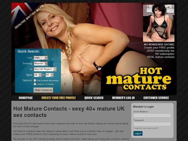 Free Hotmaturecontacts.com Video