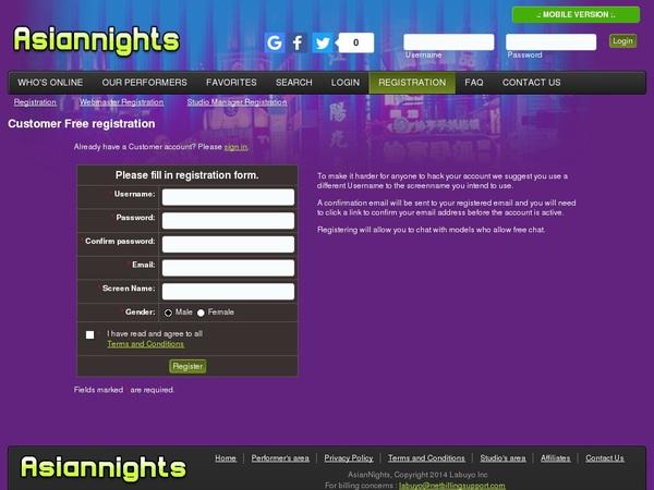 Free Asiannights.com Password