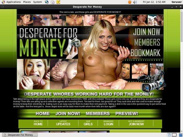 Desperate For Money Account Premium