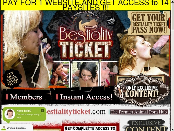 Free Accounts In Bestialityticket